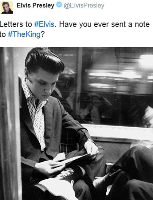 Elvis Presley@ElvisPresley, Tweed, 08:31 Uhr – 13. Okt. 2015