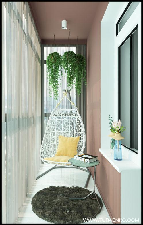 """дизайн балкона в современном стиле в ЖК """"Зеленоград сити"""" 89163172980"""