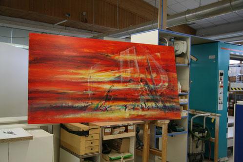 Kunstausstellung in der Schreiner-Werkstatt in Windsfeld bei Dittenheim