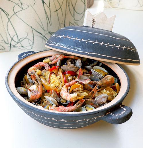 cocciorino土鍋でパエリア