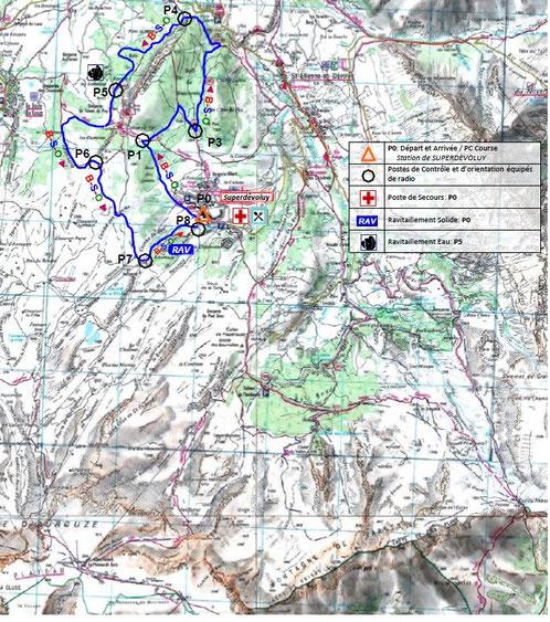 Carte du parcours Open