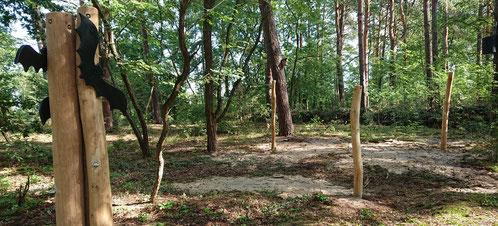 Jetzt werden wir mit NAJU-Kindern auch in der Dämmerung die Tiere im Spreewald in Ruhe beobachten können - in unserer Hängemattenlandschaft. Ein paar Fledermüse sind schon da. Foto: merry go round