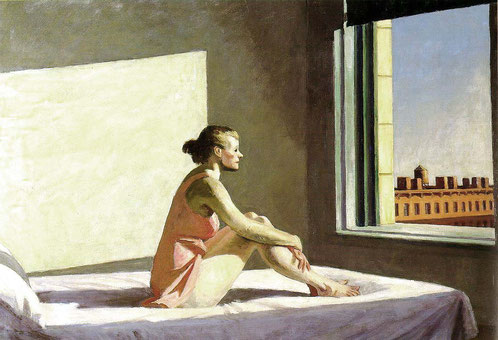 """""""Morning sun"""", oil on canvas 40 x 28 cm - Eduard Hopper, 1952"""