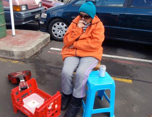à Otara, pas le même niveau de vie qu'à Auckland