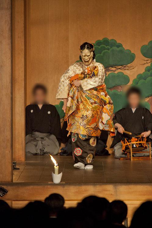 般若(白) 武田神社薪能第7回「葵上」シテ 佐久間二郎師