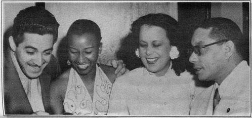 Nelson, Celia, Gloria Díaz y Rogelio.