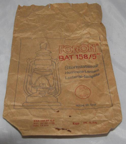 Verkaufstüte einer BAT 158 nach 1970 1.Wahl, rotes Glas