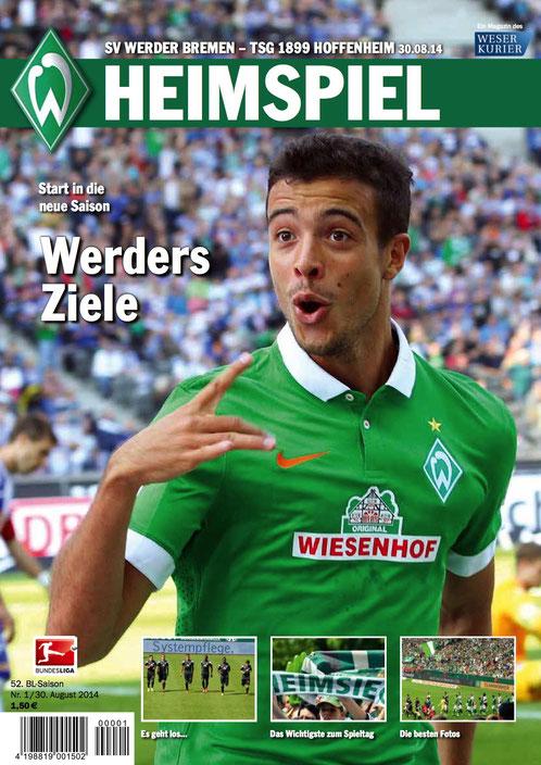 Neu: das Werder HEIMSPIEL Magazin Nr. 1