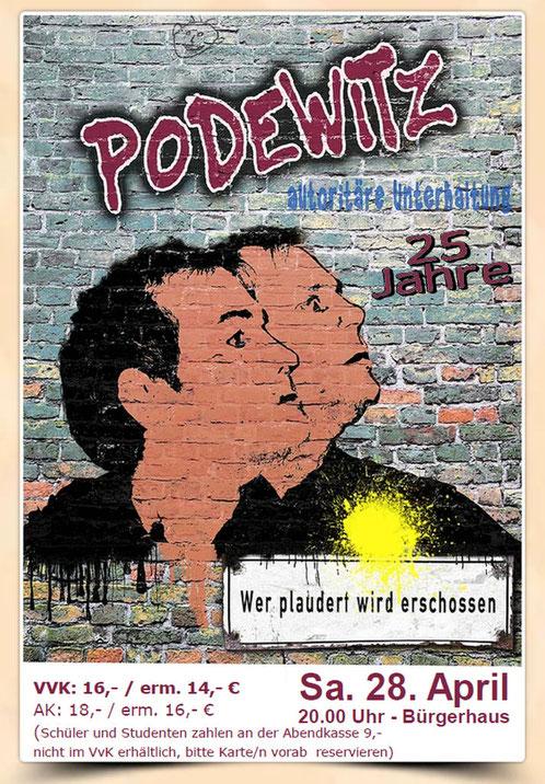 Gebrüder Podewitz kommen mit ihrem Wortwit am 28. April 2018 in das  Alveslohe im Bürgerhaus
