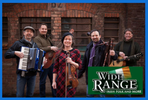 Wide Range - Irish Folk Konzert am 29. Aug. 2020  20.00 Uhr im  Bürgerhaus Alveslohe