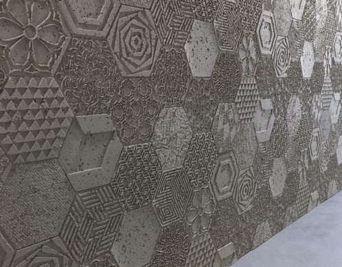 PanelPiedra - Serie Cemento - Paneele mit Betonoptik - Cemento Hexagonal PR-960