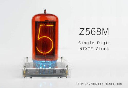 Z568M USB POWERED SINGLE DIGIT NIXIE CLOCK