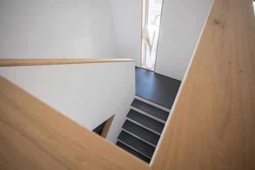 Treppe Geländer Innenausbau Eiche Massiv Handlauf Wohnhaus Treppenhaus