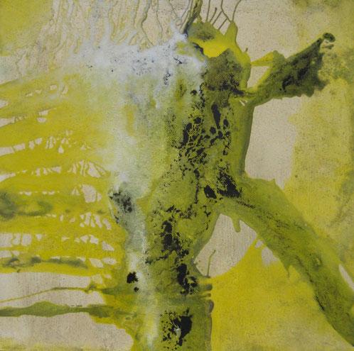 Aus der Reihe: Atelier Erde 100 x 100 cm, Urgesteinsmehl, Acrylfarbe, Lack, Ölfarbe