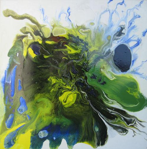 ohne Titel, 70 x 70 cm, Acryllack
