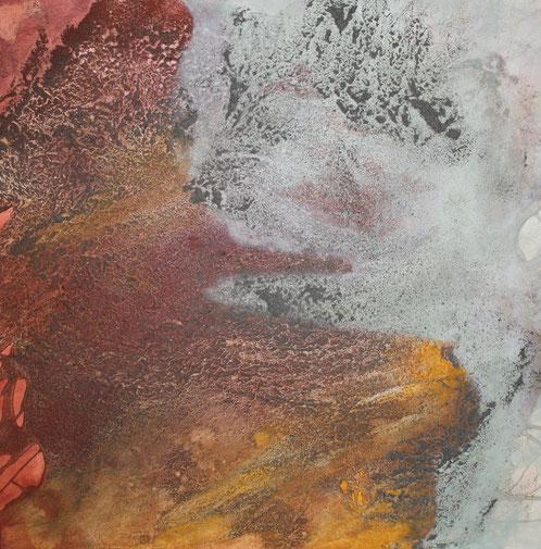 Atelier Erde, 100 x 100 cm, Urgesteinsmehl, Acrylfarbe, Pigmente