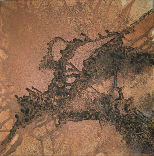 Aus der Reihe: Atelier Erde 40 x 40 cm, Urgesteinsmehl, Acrylfarbe, Pigmente