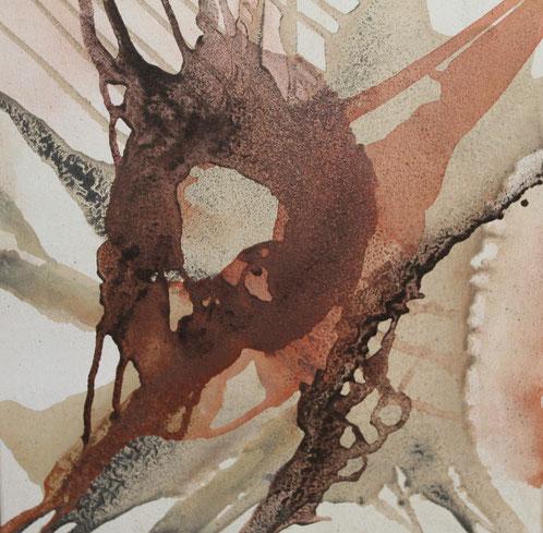 Atelier Erde, 50 x 50 cm, Urgesteinsmehl, Acrylfarbe, Pigmente