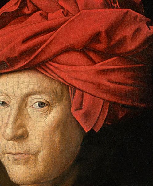 Van Eyck, Porträt, National Gallery London, Ölmalerei