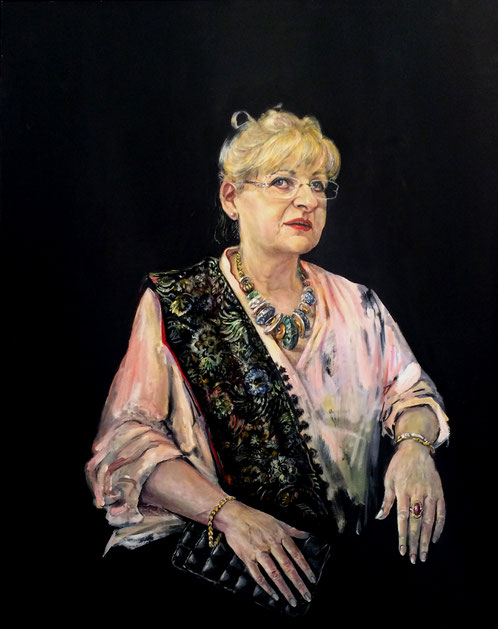 Frau M.S. Oel auf Leinwand 2016, 1000x800 mm