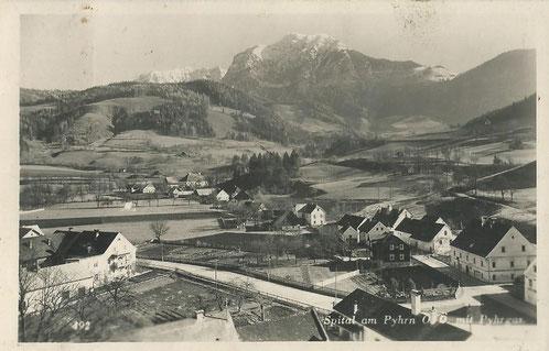 "Das ""Bauerndorf"" Spital am Pyhrn um 1950."