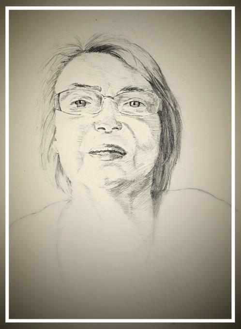 portret van tante Magda ~ 13 oktober 2015 ~