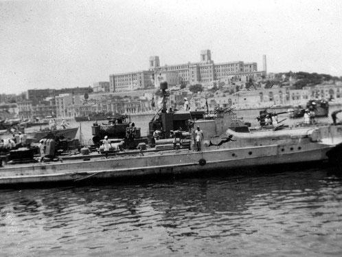 """""""S 61"""" im Hafen von La Valetta/Malta - Bild: Archiv Ashley Gowing"""
