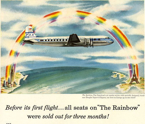 "Pan Am Douglas DC 6B ""Rainbow"" service"