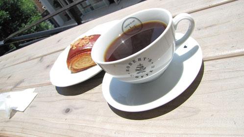天神の ロバーツ コーヒーで「一休み」