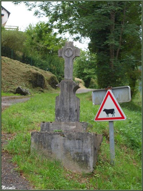 Croix à l'entrée du village d'Aas, Vallée d'Ossau (64)