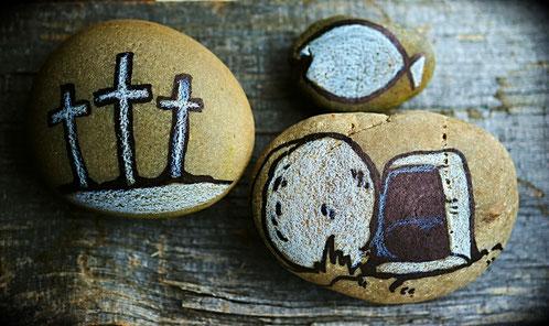 La risurrezione di Gesù rappresenta sulle pietre