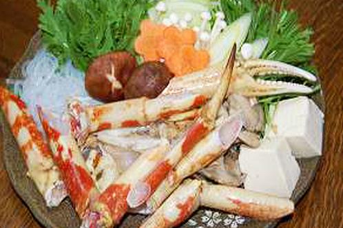 高足蟹を鍋&焼き物に