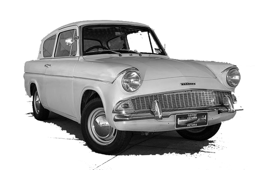 Vintage British Ford Anglia