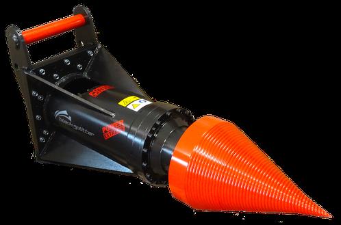 Kegelspalter Black Splitter SBXX / Holzspalter / Spalter / Planetengetriebe / Baggerzubehör / Bagger
