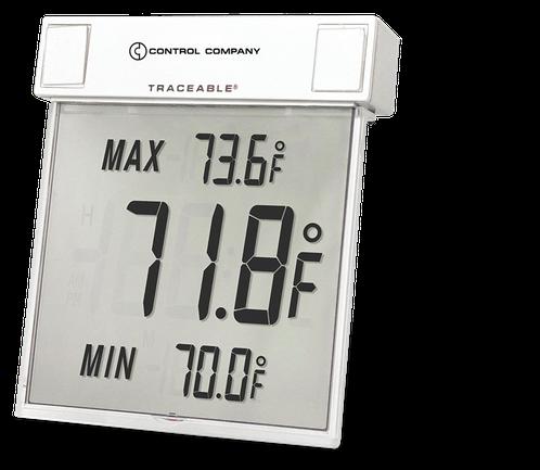 Termómetro digital ambiental con sonda interna y certificado trazable a NIST 4160