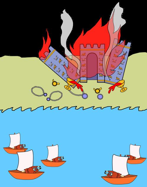 Tout comme les rois de la terre et les marchands, les capitaines et les marins se tiennent à distance en constatant la disparition de Babylone la grande. En effet, la fumée de l'incendie témoigne de sa destruction totale. Sans doute ont-ils peur.