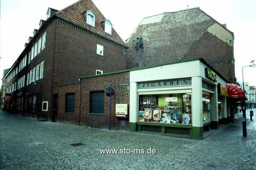 Ecke Ringoldgasse - Viele Gebäude waren aus finanziellen Gründen noch nicht aufgestockt.