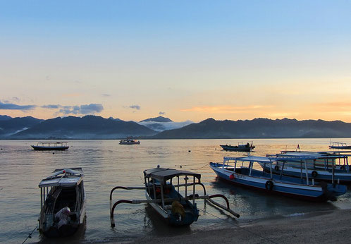 Gili Air is a stunning island with amazing sunsets