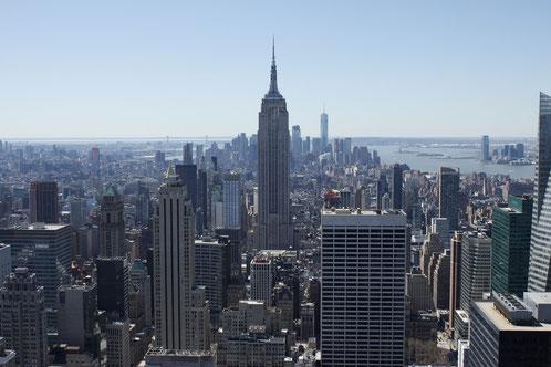 Blick über Manhattan vom Rockefeller Center aus