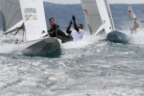 Paolo Brescia e Ariberto Strobino al Campionato Europeo Fireball 2012 - Yacht Club Bracciano Est