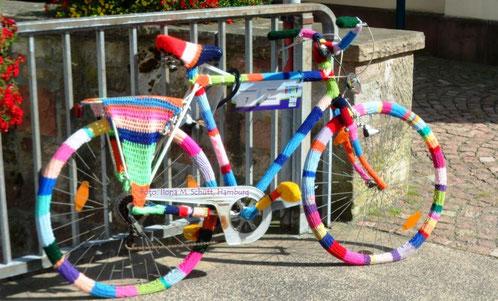 In Gersfeld, Rhön: das etwas andere 'Rhönrad'