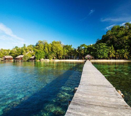 Bounty strand op de Togian eilanden bij Sulawesi