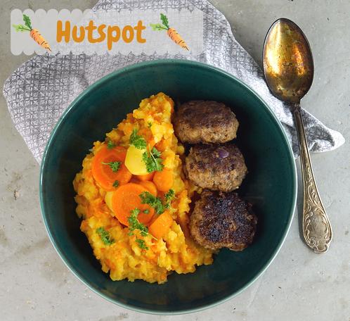 Hutspot, der niederländische Beilagenklassiker aus gestampften Karotten und Kartoffeln