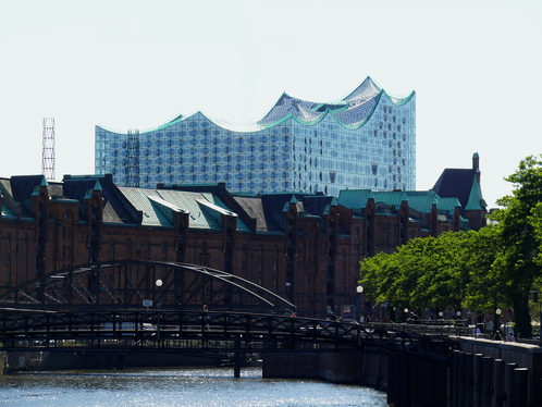 Hamburg, Germany, Harbor, Elbphilharmonie