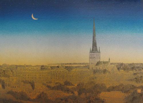「聖オレフ教会(エストニア・タリン)」 F4号 ¥140,000