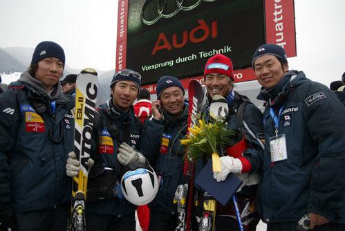 全日本スキー連盟(SAJ) アルペンナショナルチーム 帯同