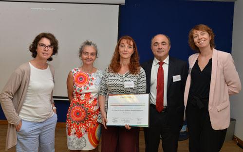 Remise des prix par la filière pain au collège Jean Sarrailh de Monein (Avec Dominique ANRACT, Président CNBPF - Aurore BESCOND, SG CSFL - Anne-Sophie ROYANT, SG UNIJUS)