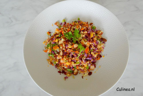 Gekleurde bloemkool couscous