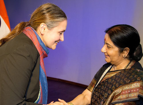 International Events - mit indischer Außenministerin Sushma Swaraj, 2015