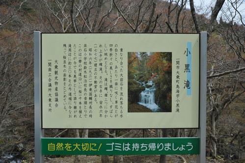 県道から滝を望むと、滝と緑が織りなす美しい風景が広がります。